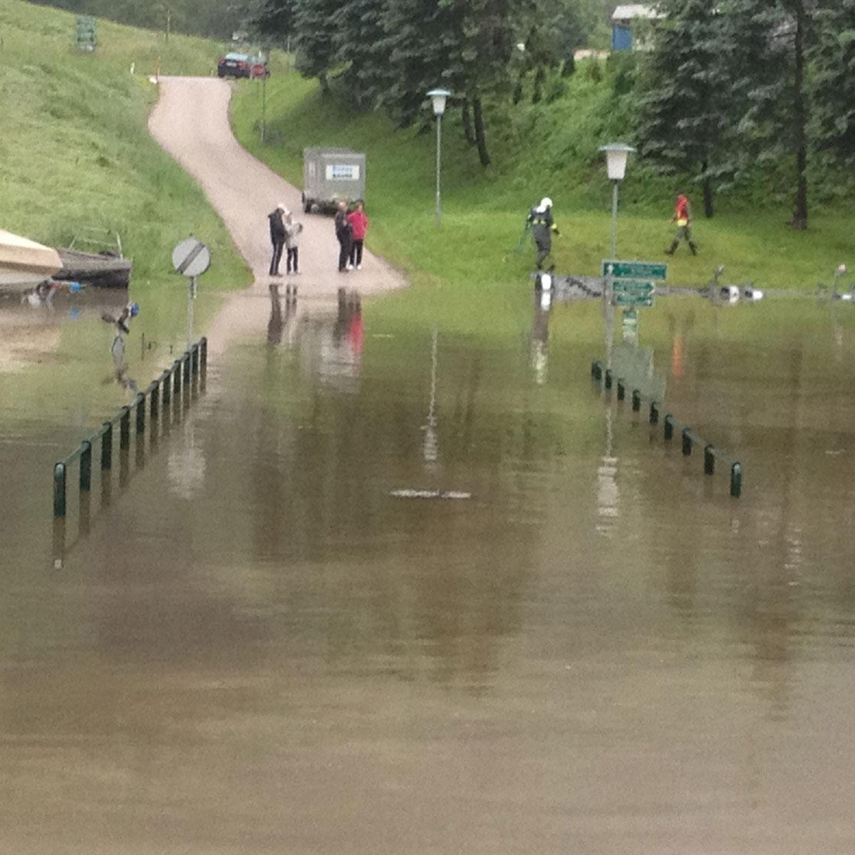 Hochwasser am Donausteig