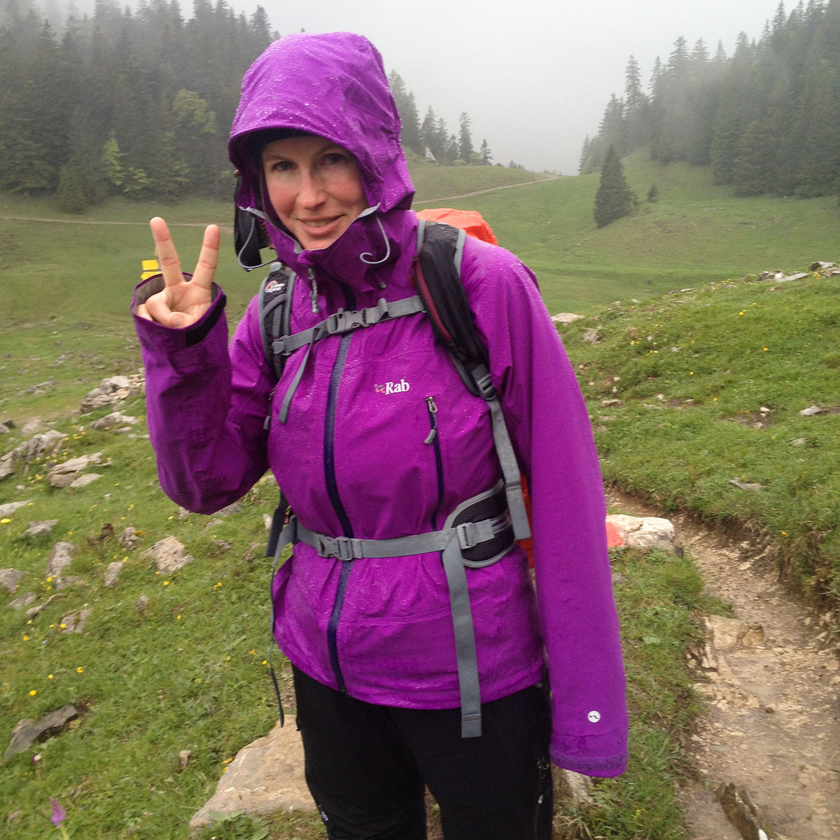 Artikelbild Spitzingsee Brecherspitze Regenbekleidung
