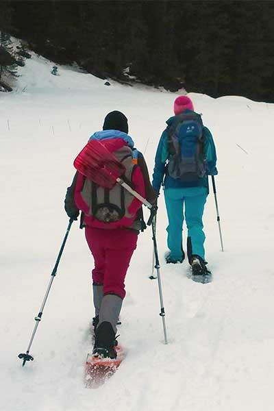 Artikelbild Schneeschuhwanderung kinderleichte Technik