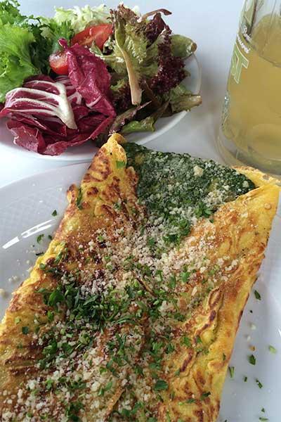 Artikelbild Südtirol Rosengarten Tschafonhaus Omelette