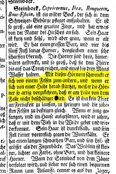 Artikelbild Steinbock Zedlers Lexikon