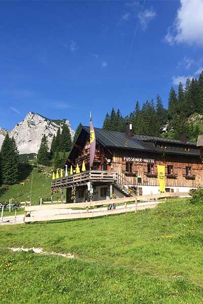 Artikelbild Füssener Hütte in den Tannheimer Bergen